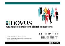 Novusrapport om grundskollärare och digital kompetens