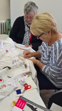 Sewing for the community at Nuneaton station