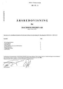 Årsredovisning Dachser Sweden AB