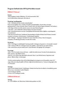 Program Ostfestival 2016 pressmtrl