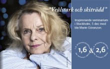 Seminarium i Stockholm om reumatism, cancer och intervju med Marie Göranzon