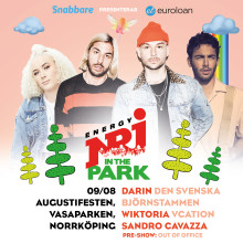 Artistläpp för NRJ in the Park under Augustifesten