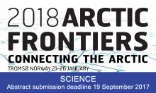 Final call for papers Arctic Frontiers Science 2018 - deadline 19 September 2017