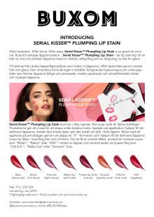 BUXOM Serial Kisser Plumpling Lip Stain _ pressrelease