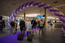 Åpnet ny ankomsthall for innlandspassasjerer