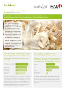 Factsheet IMAS-Umfrage Biokraftstoffe