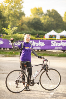 London residents cycle to fundraising success for the Stroke Association