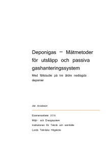 Deponigas – Mätmetoder för utsläpp och passiva gashanteringssystem