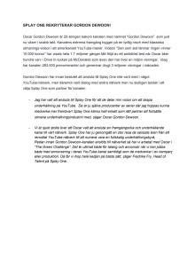 SPLAY ONE REKRYTERAR GORDON DEWOON (Svensk pressmeddelande)