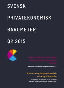 Svensk Privatekonomisk Barometer Q2 2015