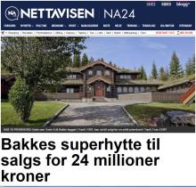 Bakkes superhytte til salgs for 24 millioner kroner