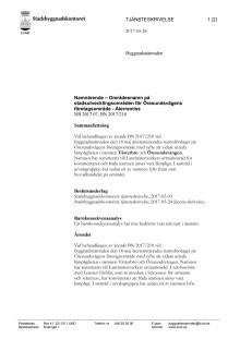 Tjänsteskrivelse för namnärende, Öresundsvägen