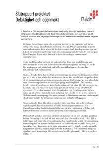 Slutrapport av förstudien Delaktighet och egenmakt