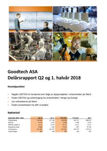 Kvartalsrapport Q2 og 1. halvår 2018