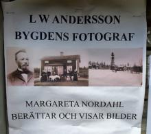 Margareta Nordahl berättar om bygdens fotograf