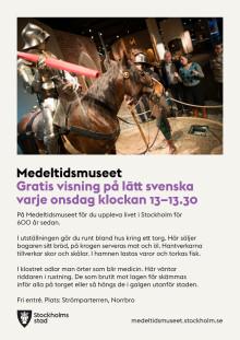Nu visas Medeltidsmuseet på lätt svenska varje onsdag