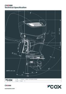 Cox Powertrain CXO300 Tech Spec - October 2019