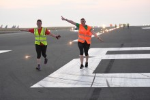 Early start for London Luton Airport runway runners
