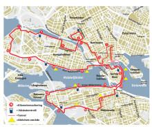 Delvis ny bansträckning för Stockholm Halvmarathon 2015