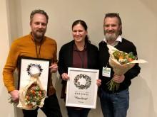 Gotthards Krog och Formstråket prisade på besöksnäringens årliga träff