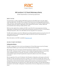 RAC Response to Planning Inspectorate inquiry into M4 (Junctions 3-12) smart motorway scheme