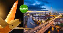 Mer flygtrafik med easyJet från Arlanda till Berlin