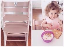 Måla om barnstolen så den passar en prinsessa