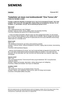 """Familjen Lindell lever """"One Tonne Life"""" – faktablad"""