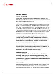 Teknikförklaringar IXUS 210