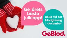 Ge blod i december – rädda liv!