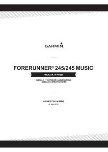 Produkt memo Forerunner 245