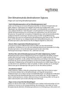 Q & A Sigtuna klimatkompensation 2012