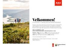 Inbjudan till svenska residenset i Oslo 18 oktober 2017