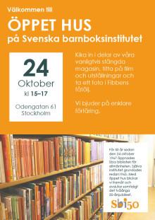 Välkommen till öppet hus på Svenska barnboksinstitutet den 24 oktober