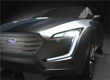 Framtidstro i Subarus monter i Genève