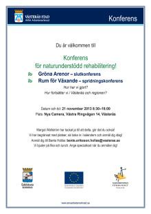 Program konferens för naturunderstödd rehabilitering