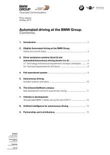 Autonomous driving at the BMW Group