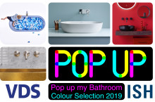 Pop up my Bathroom showing Colour Selection at ISH 2019