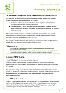 PEFC pressbriefing - november 2018
