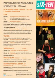 Culturens sportlovsprogram 24-27 februari 2014 - uppdaterad version