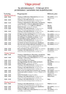 Program för Digital Delaktighet aktivitetsvecka 6-10 februari
