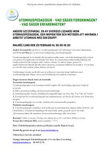 I Ur och Skur föreläsning i Malmö/Lund 28 februari 9-16