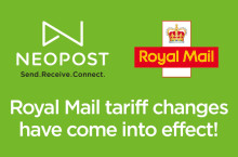 Royal Mail's tariff changes come into effect, remember to update your software!