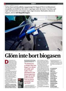 Glöm inte bort biogasen