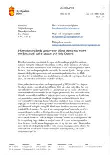 Länsstyrelsen Skånes beslut att föreslå ett nytt naturreservat i Kattegatt