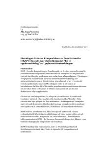 """2011-10-21 - Yttrande över Upphovsrättsutredningens slutbetänkande """"En ny upphovsrättslag"""""""