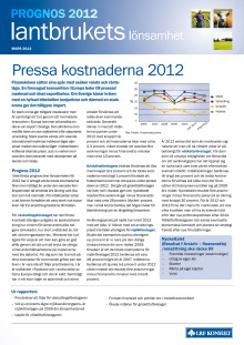 Lantbrukets Lönsamhet Prognos mars 2012
