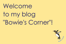 "Welcome to my blog ""Bowie's Corner""!"