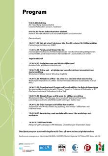 Program för konferensen Efter Rio+20 2012-10-30