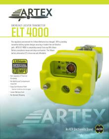 ARTEX ELT 4000 Emergency Locator Transmitter - Spec Sheet